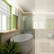 Sichtschutzfolie im Badezimmer
