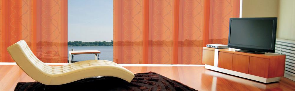 Flächenvorhänge Multifilm orange