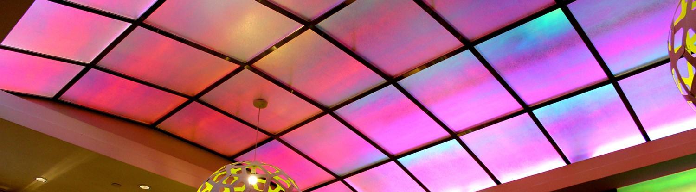 3M Glaskuppel mit Dichroic Glasdesignfolie