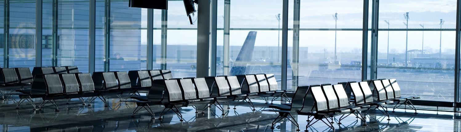 Sonnenschutzfolien Flughafengebäude