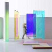 Verschiedene Designs von Dichroic Glasdesignfolien